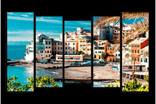 Модульная картина Итальянский городок