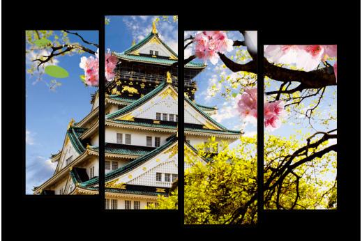 Модульная картина Япония Замок