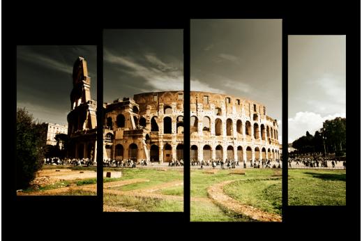 Модульная картина Колизей Рим