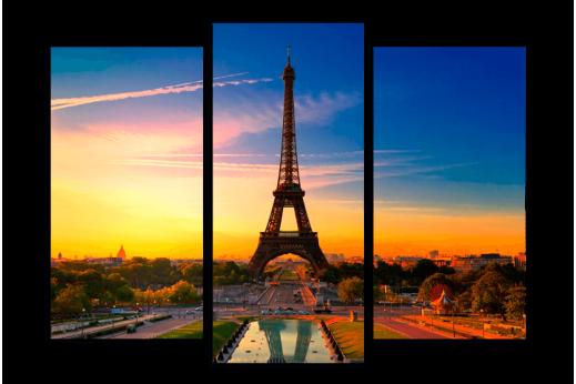 Картина Париж на закате