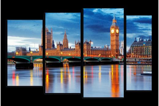 Модульная картина Вечерний Лондон