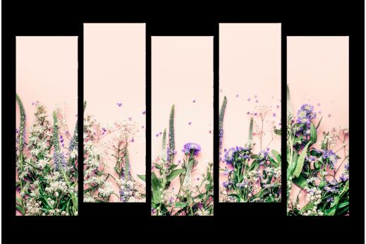 Модульная картина Мелкие цветы