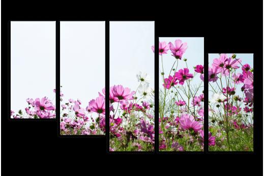 Модульная картина Маленькие цветочки