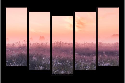 Модульная картина Утренние цветы